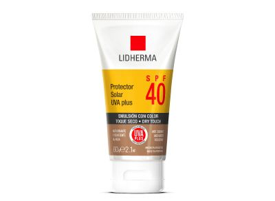 Protector Solar UVA PLUS SPF 40 Toque Seco Color