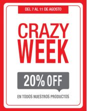 Crazy Week=20%OFF
